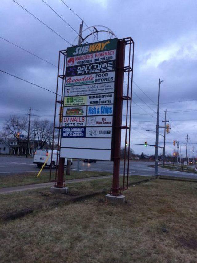 Pylon sign signs maker for Pylon foundation
